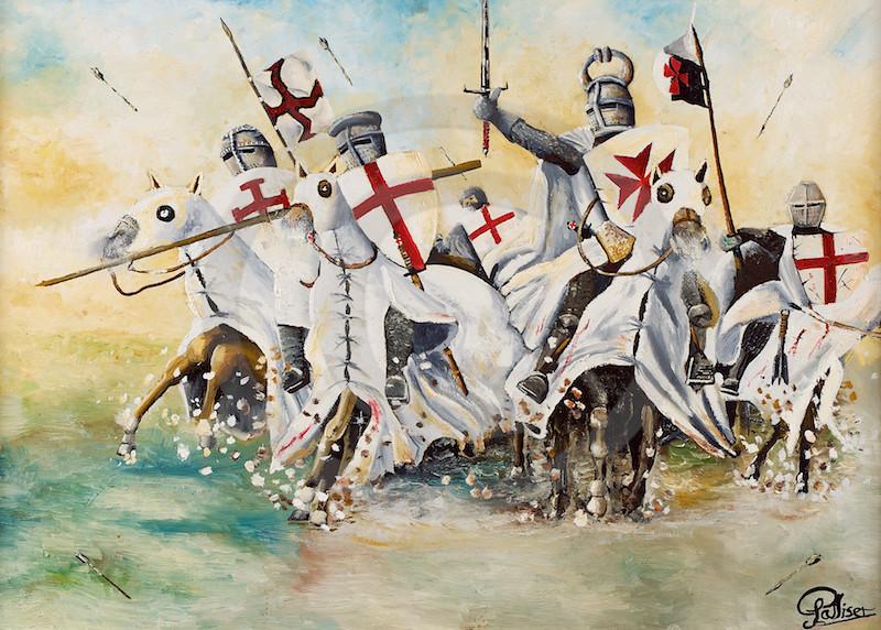 Resultado de imagen de Imágenes de cruzados luchando