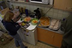Bine preparing for the BBQ (dvanzuijlekom) Tags: kitchen arnhem thenetherlands bbq april keuken 2012 bine koningsweg hackerspace canoneos7d hack42 tamron18270mmf3563diiivcpzd kkn6 ohm2013 ohm2013kickoffparty