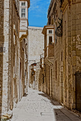 "A Typical Street In Mdina, Commonly Called ""The Silent City. Malta. Europe. (PANDOOZY PHOTOS) Tags: street city streets town europe european silent pavement malta medieval hanging lantern walled mdina"