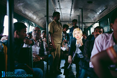 The bus journey. (Mjuboy) Tags: travel india bus fashion contrast model crowd transport culture journey german western concept hyderabad apsrtc canon5dmarkiii monikahirmer