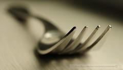 F--k (disgruntledbaker1) Tags: light white macro window metal silver nikon fork 60mm monday d90 disgruntledbaker1