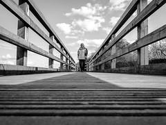 124-365 All lines lead to.... (NSJW photos) Tags: wood bridge me lady walking person wooden walk 124 selfie lowpov 124365 365selfies nsjwphotos 1243652016