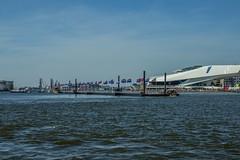 Bridge over IJ at Amsterdam (just_be_art) Tags: amsterdam het ferries ij