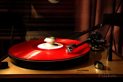 Vinyl record (Pilikan) Tags: red canon eos is jubilee vinyl record 5d thorens 1635 mk3 f4l