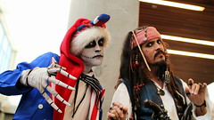 Captain Jack Sparrow and Patriotic Jack Skellington (grendel7469) Tags: cosplay jackskellington piratesofthecaribbean nightmarebeforechristmas fanimecon captainjacksparrow merica