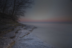Morning Calm (MartinSommer) Tags: park longexposure sunset ontario water sunrise nikon rocks calm sandbanks provincial princeedwardcounty