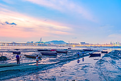 Sunset afterglow at Lau Fau Shan, Hong Kong (johnlsl) Tags: sunset hongkong afterglow laufaushan
