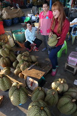 Durian street - Talad Thai (g e r a r d v o n k ) Tags: street city travel people urban food colour reflection green art fruit canon shopping asian thailand eos fantastic asia market photos outdoor expression ngc thai vendor unlimited stad uit yabbadabbadoo asia flickraward newacademy earthasia totallythailand artcityart
