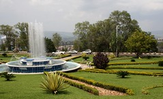 Island (My photos live here) Tags: africa city urban fountain canon circle island eos traffic capital kigali rwanda 1000d