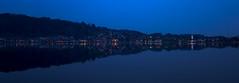 Hopfen in der Abenddmmerung (matthiashn) Tags: lake night reflections germany landscape bayern bavaria see landschaft nite hopfen allgu hopfensee