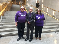 Welcoming East Coast FM reps to Holyrood