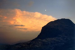 Paesaggi lunari (La minina) Tags: sunset italy moon mountains trekking italia tramonto hiking dolomiti altaquota paledisanmartino