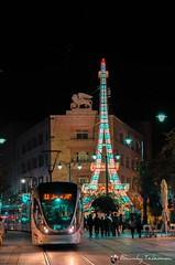 Eifferl Tower (s'tel10) Tags: nightphotography light train israel jerusalem jaffa lightsfestival sigma1750mm28 nikond7000