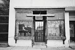 R1-E003 (David Swift Photography Thanks for 16 million view) Tags: windows film philadelphia sign 35mm doors barbershop hairsalon storefronts ilfordxp2 mtairy yashicat4 davidswiftphotography