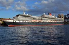 Queen Victoria photomerge (PhillMono) Tags: ocean voyage cruise reflection port boat nikon ship harbour sydney vessel victoria line queen arrival dslr departure cunard liner d7100