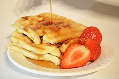 Waffles (Marija Bancevic) Tags: red maple strawberry wheat whole meal syrup flour waffles cheat