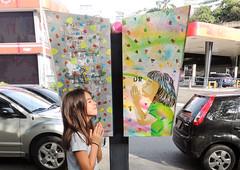 Pray (D11 Urbano) Tags: color art girl stencil arte venezuela pray caracas urbano calles venezolano arteurbano d11 streetartvenezuela artvenezuela d11streetart arteurbanovenezuela d11art d11urbano