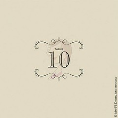 Retro Table Number Card Clip Art great to make your own party designs #retro #table #wedding #party #clipart  https://goo.gl/Qykqkr (maypldigitalart) Tags: wedding party table retro clipart