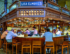 Taking a Break @ LISA ELMQVIST, stermalmshallen, Stockholm, Sweden (nbcmeissner) Tags: street food nikon sweden stockholm schweden streetphotography stermalm nybrogatan saluhall stermalmshallen lisaelmqvist nikond7000 humlegardsgatan