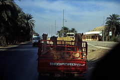 gypten 1999 (148) Busfahrt Assuan - Luxor (Rdiger Stehn) Tags: auto winter analog 35mm urlaub egypt slide dia 1999 scan afrika gypten 1990s canoneos500n nordafrika analogfilm kleinbild canoscan8800f kbfilm 1990er obergypten sdgypten diapositivfilm aad