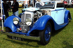 Blue Morgan (H Burton) Tags: classiccar morgan oldcar bluecar dealclassicmotorshow