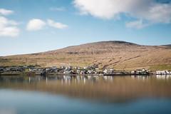 Sorvagur, Faroe Islands  [Explored] (Sunny Herzinger) Tags: travel sea reflection clouds village hills fo faroeislands vgar fujixpro2 fujinonxf23mmf14r