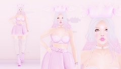 *Purple Princess* (Bambi iki) Tags: cute purple pretty princess asian kawaii secondlife blog blogger fashion fantasy succubus model porceline doll hair blue simple edgy