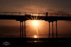 Saltburn (AndyCrutt) Tags: uk sunset shadow sea england sky people sun seascape abstract color colour art nature silhouette pier seaside fuji fujifilm saltburn xt10 andycrutt