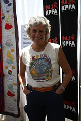 Jan Etre, Fair Promoter (beppesabatini) Tags: california richmond bayarea artsandcrafts kpfa craftsfair artsfair cranewaypavilion 941kpfa 2ndannualkpfasummerartsfair2016 kpfasummerartsfair