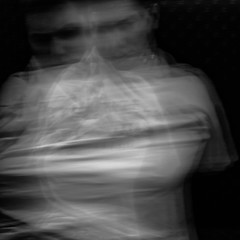 tied up (Vasilis Amir) Tags: longexposure boy portrait blackandwhite motion male monochrome square moving experimental move icm twofaces  abstractportrait intentionalcameramovement mygearandme vasilisamir
