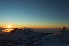 Sunset from Mauna Kea (rmaschak) Tags: sunset canon eos rebel volcano hawaii observatory telescope shield maunakea 2012 1855mmf3556 t1i