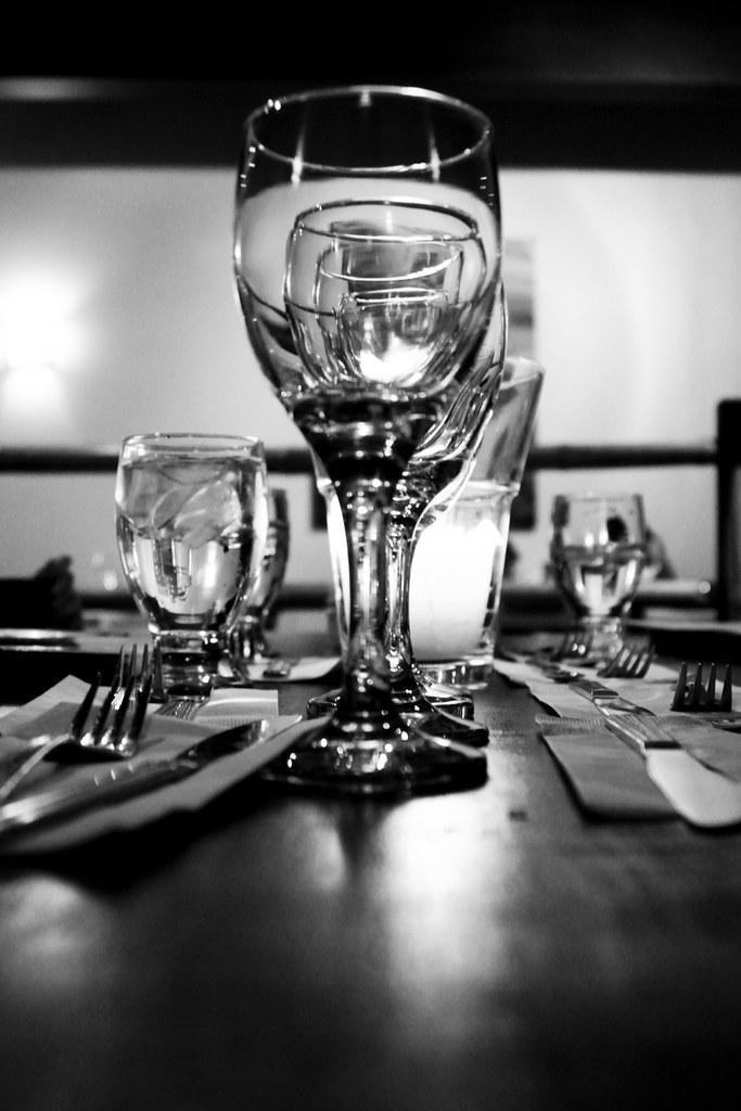 Verres / Glasses au Tao Grill