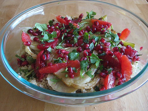 Fennel and Quinoa Salad with Pomegranate and Blood Orange - On The ...