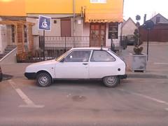 Oltcit (gitmo2012) Tags: auto old white classic car europe communist communism made transylvania eastern romanian disability pkw judetul blaj oltcit