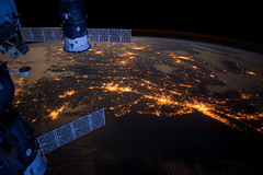 Atlantic Coast at Night (NASA, Internati by NASA
