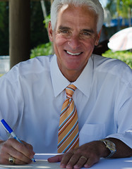Gov Charlie Crist signing my First Day of Issu...