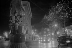 Busker (eych-you-bee-ee-ahr-tee) Tags: blackandwhite film vancouver analog 35mm rangefinder busker rodinal gastown gassyjack yellowfilter ilfordhp5plus olympus35sp selfdev blazinal epsonv600 gzuiko42mm117