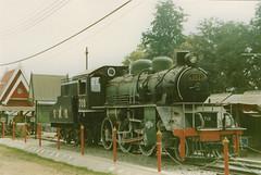 Thailand - Burma Railway - Kanchanaburi (railasia) Tags: thailand nineties kanchanaburi srt mogul publicdisplay steamloco burmarailway metergauge exjnr classc56