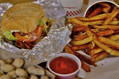 Five Guys Bacon Cheeseburger with Cajun Fries