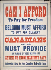 Can I afford to pay for freedom : Belgium must afford to pay for slavery (Toronto Public Library Special Collections) Tags: canada poster support war factory propaganda labor canadian ephemera management posters ww2 labour worker strength ww1 troops worldwar recruitment canadianexpeditionaryforce wareffort