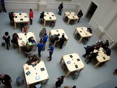 A'dam Apple Store (Jack Amick) Tags: new orange apple amsterdam macintosh march store olympus opening e5 ipad macbook