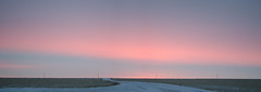 Saturday Sunrise Panorama (C-Dals) Tags: pink blue winter sky panorama clouds sunrise nikon alberta prairies d5100