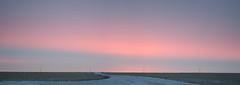 Saturday Sunrise Panorama (C-Dals) Tags: pink blue winter sky panorama clouds sunrise nikon alberta prairies d5100