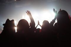the savior has come (NoiRcORNEr) Tags: light people silhouette digital concert fans nokton voigtlander35mmf14 sonynex3