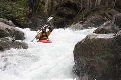 Ben Brown on  the Upper Chiroro extreme Kayaking  Japan