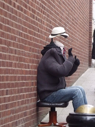 The Invisible Man - busker - College Lane, Tamworth