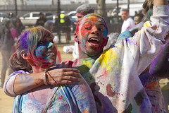 | Holi Festival in Queens, NYC | (SOBPhotography) Tags: nyc newyorkcity portrait newyork color festival photography indian picture photojournalism queens photograph dye holifestival babypowder
