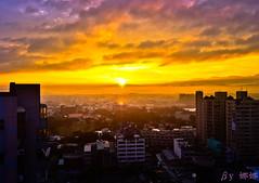 Sunrise (娜 娜☂Nana) Tags: life light sky sun love beautiful clouds sunrise nikon colorful natural taiwan 台灣 台灣taiwan i 我愛台灣 d7000