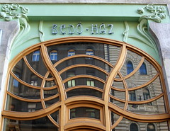 Window reflection (elinor04) Tags: city reflection building art window architecture design hungary details budapest secession architectural architect artnouveau ornaments nouveau 1903 jugendstil bellepoque doorglass szecesszi vidoremil hungariansecession hungarianartnouveau emilvidor magyarszecesszi magyarszecessz