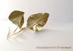 Le Foglie (Fascinationstreet B-handmade) Tags: handmade jewelry metalwork sheet earrings jewels brass forged ottone gioielli accessori orecchini fattoamano foldforming